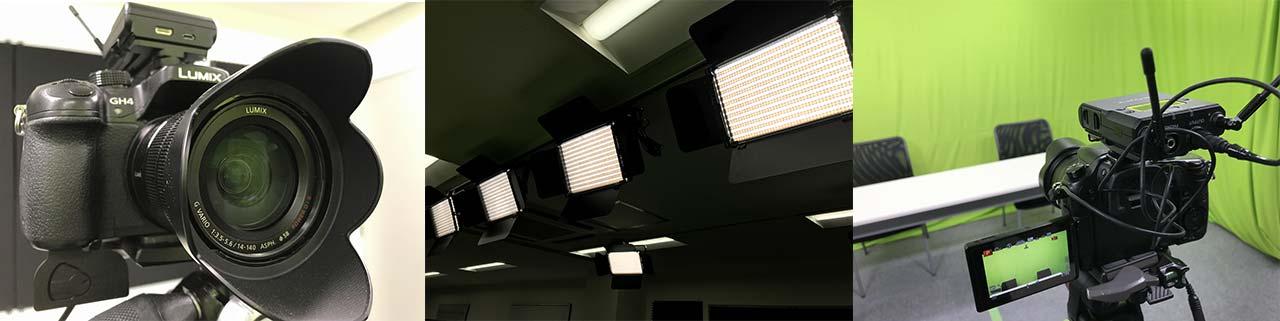 動画撮影スタジオ、撮影付きセミナールーム・会議室レンタル
